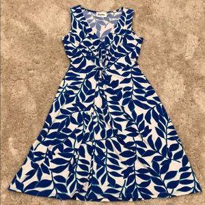 Leota V-Neck Sleeveless Dress with Knot Detail